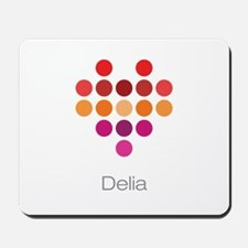 I Heart Delia Mousepad