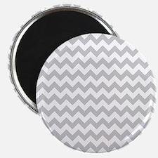 Gray and White Chevron Magnet