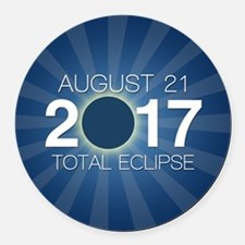 Solar Eclipse 2017 Round Car Magnet
