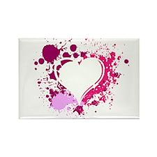 Splattered Heart Rectangle Magnet (10 pack)