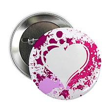 """Splattered Heart 2.25"""" Button"""