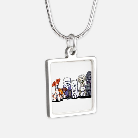 Usual Suspects Silver Square Necklace