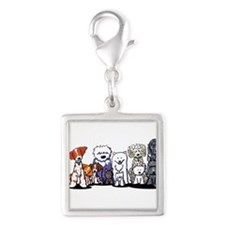 Usual Suspects Silver Square Charm