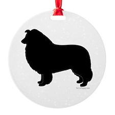 Rough Collie Silhouette Ornament