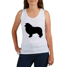 Rough Collie Silhouette Tank Top
