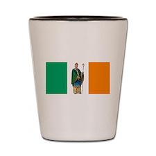 St Patrick Irish flag Shot Glass
