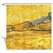 Wheatfield by Van Gogh Shower Curtain