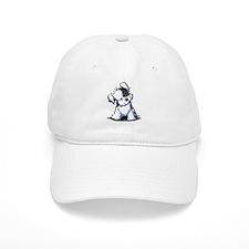 Curious BW Havanese Baseball Cap