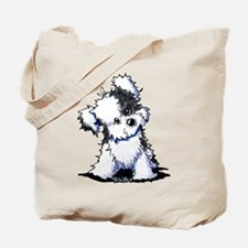 Curious BW Havanese Tote Bag