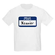 Hello: Xzavier Kids T-Shirt