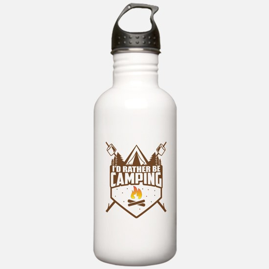 Rather Be Camping Sports Water Bottle