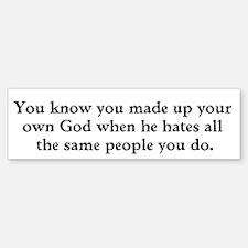 Made up God Sticker (Bumper)