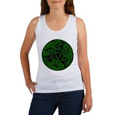 Celtic rond Green Dog Tank Top