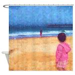 Children On Beach Shower Curtain
