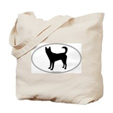 Canaan Dog Silhouette Tote Bag