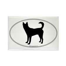 Canaan Dog Silhouette Rectangle Magnet