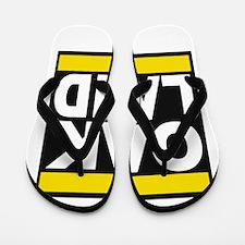 oakland yellow Flip Flops