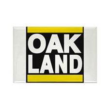 oakland yellow Rectangle Magnet
