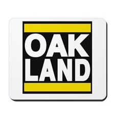 oakland yellow Mousepad