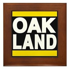 oakland yellow Framed Tile