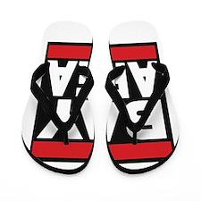 bayarea red Flip Flops