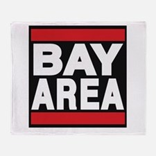 bayarea red Throw Blanket