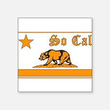 so cal bear orange Sticker
