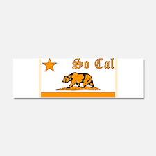 so cal bear orange Car Magnet 10 x 3