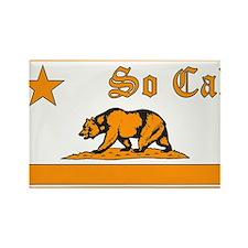 so cal bear orange Rectangle Magnet
