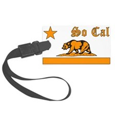 so cal bear orange Luggage Tag