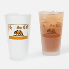 so cal bear orange Drinking Glass