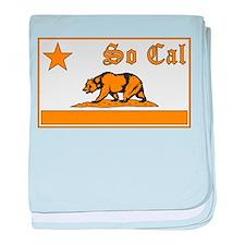 so cal bear orange baby blanket