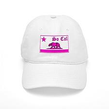 so cal bear pink Baseball Baseball Cap