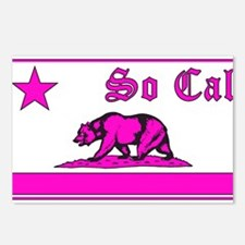 so cal bear pink Postcards (Package of 8)