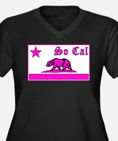 so cal bear pink Plus Size T-Shirt