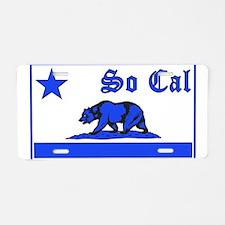 so cal bear blue Aluminum License Plate