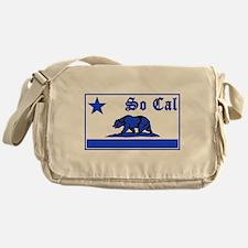 so cal bear blue Messenger Bag