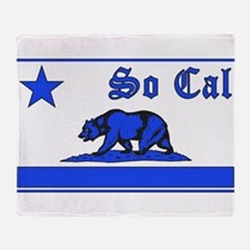 so cal bear blue Throw Blanket