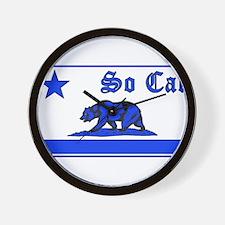 so cal bear blue Wall Clock