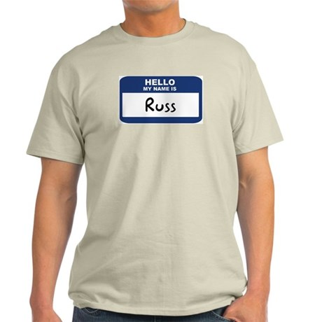 Hello: Russ Ash Grey T-Shirt