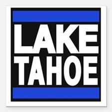 "lake tahoe blue Square Car Magnet 3"" x 3"""