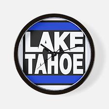 lake tahoe blue Wall Clock