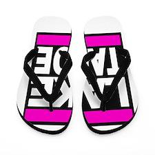 lake tahoe pink Flip Flops