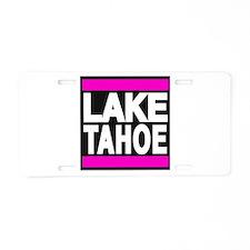 lake tahoe pink Aluminum License Plate