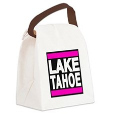 lake tahoe pink Canvas Lunch Bag
