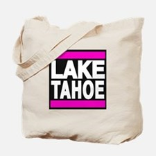 lake tahoe pink Tote Bag