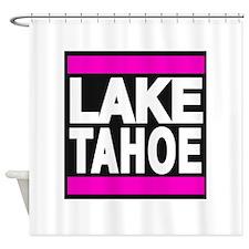 lake tahoe pink Shower Curtain
