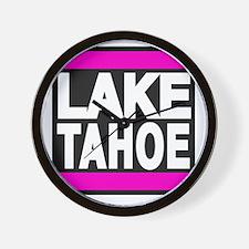 lake tahoe pink Wall Clock