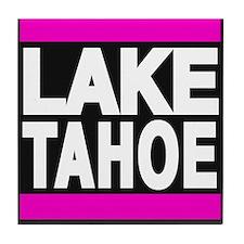 lake tahoe pink Tile Coaster