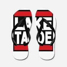 lake tahoe red Flip Flops